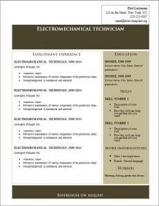 Free cv resume template #220