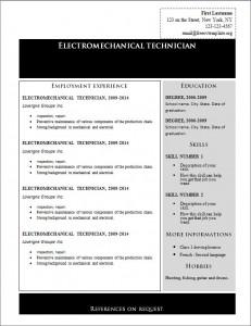 Free cv resume template #225