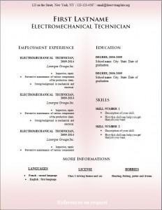 Free cv resume template #228