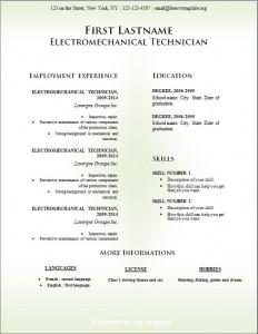 Free cv resume template #229