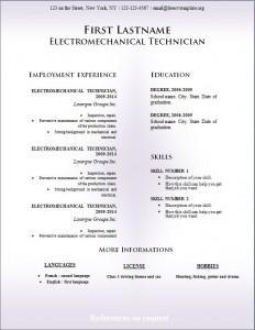 Free cv resume template #230
