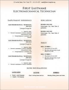 Free cv resume template #231
