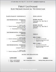 Free cv resume template #232