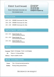 Free word cv resume template #238