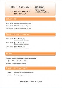 Free word cv resume template #239