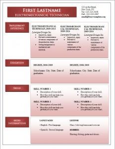 Free word cv resume template #241