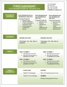 Free word cv resume template #242