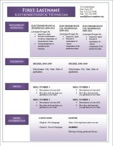 Free word cv resume template #243