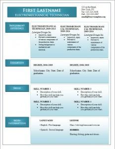 Free word cv resume template #244