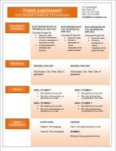 Free word cv resume template #245