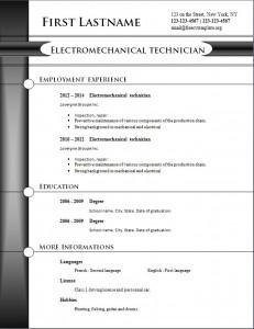 free cv resume template #254