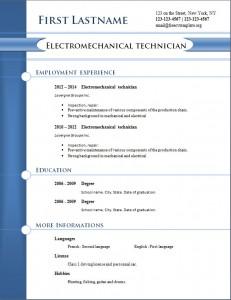 free cv resume template #255
