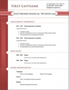 free cv resume template #256