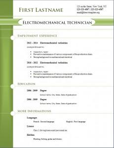 free cv resume template #257