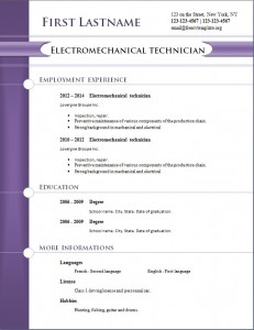 free cv resume template #258
