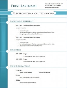 free cv resume template #259