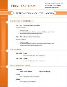 free cv resume template #260