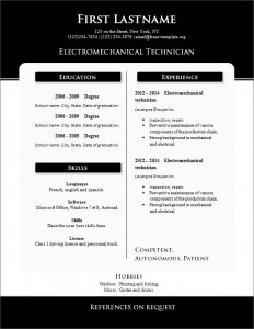 Free cv resume template #261