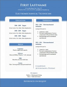 Free cv resume template #262