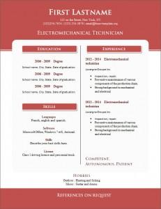 Free cv resume template #263