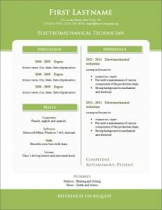 Free cv resume template #264