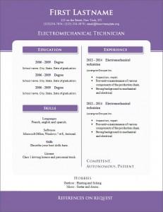 Free cv resume template #265