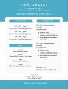 Free cv resume template #266