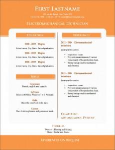 Free cv resume template #267