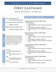 Free cv resume template #268