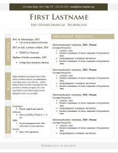 Free cv resume template #269