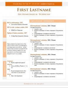 Free cv resume template #273