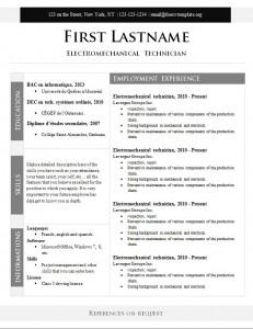 Free cv resume template #274