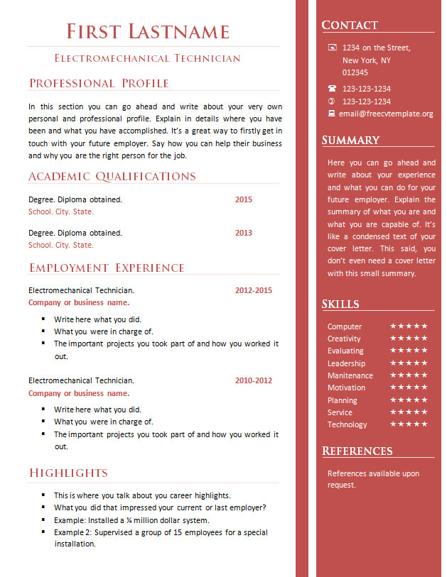 Free cv resume templates #341 to 346