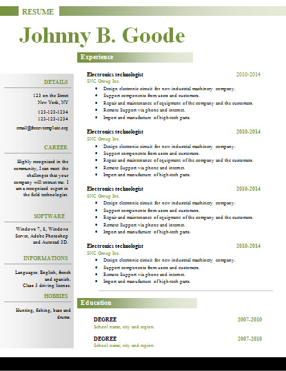 Free resume cv templates #353 to 359