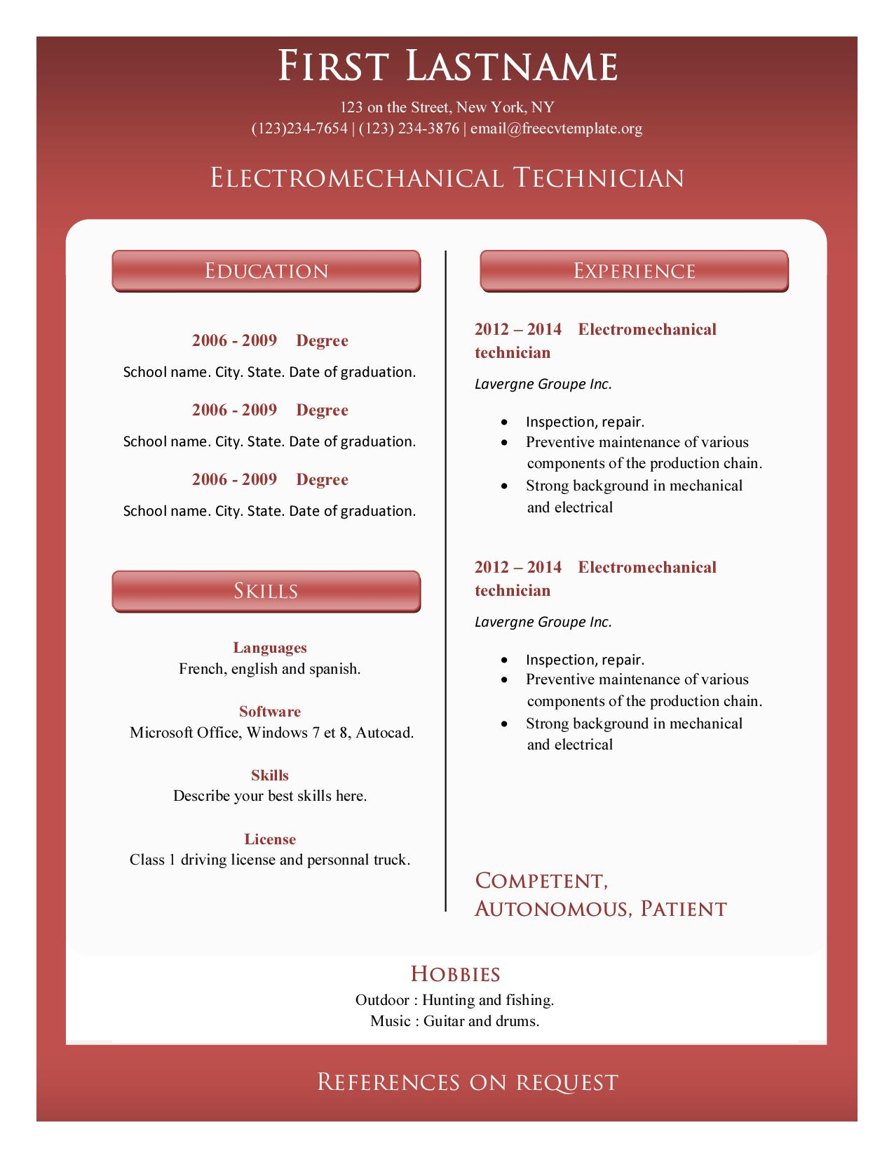 Resume cv templates #374 to 379