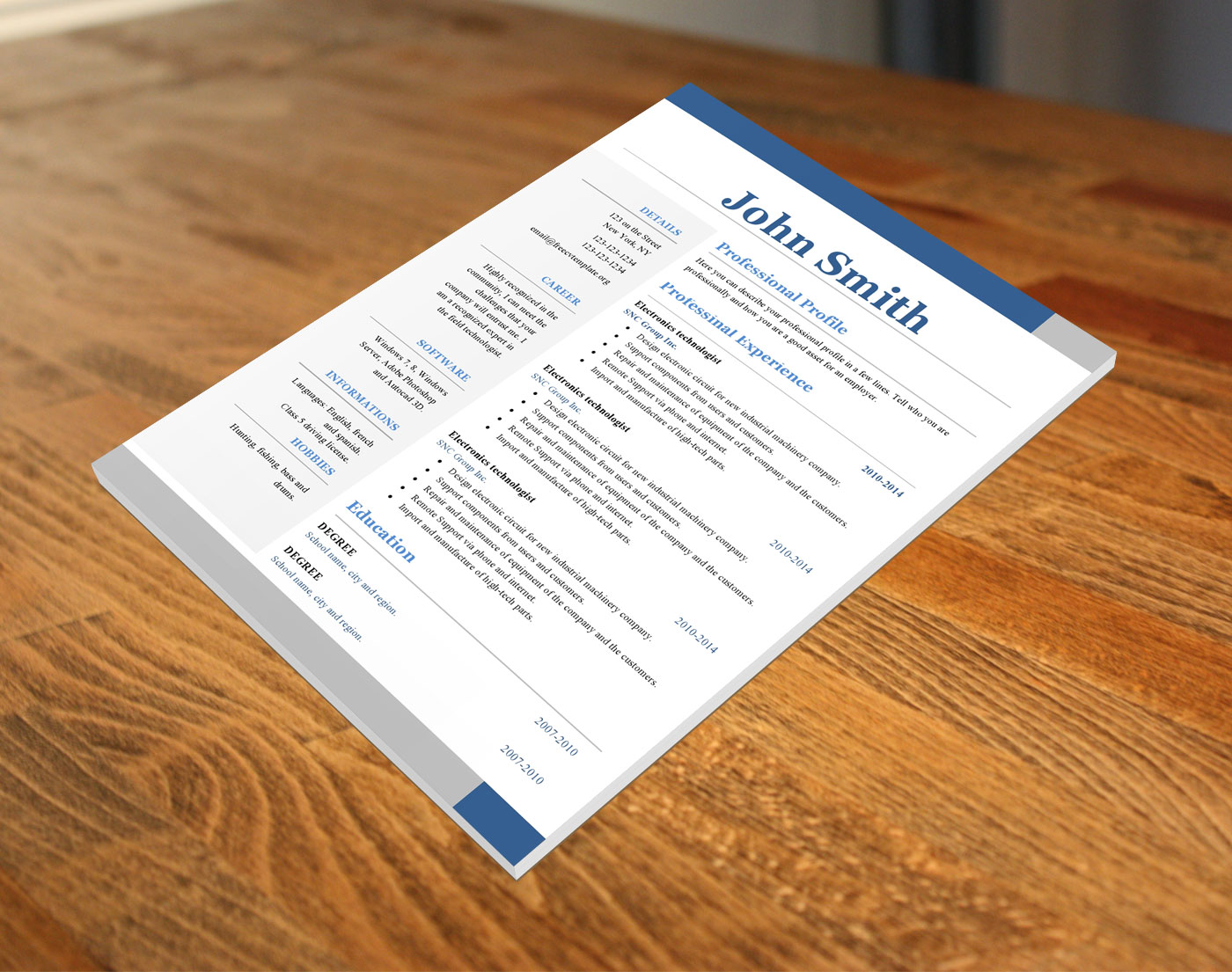 Free cv templates #399 to 404