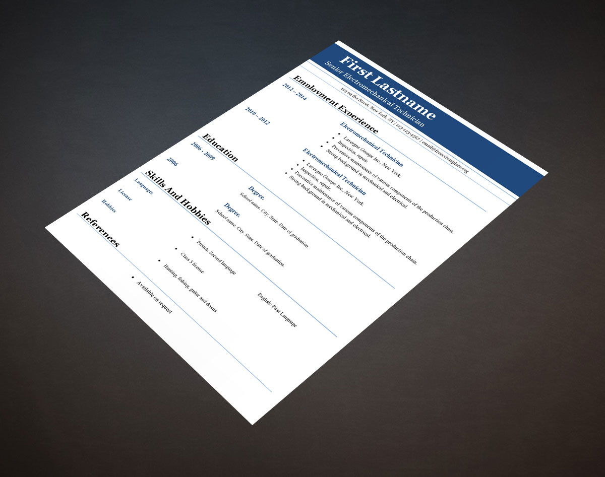 Free cv templates #404 to 410