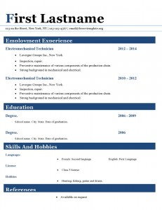 Resume cv template ms word format #411