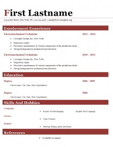 Resume cv template ms word format #412