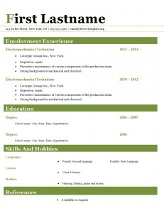 Resume cv template ms word format #413