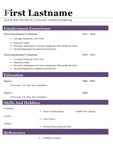 Resume cv template ms word format #414