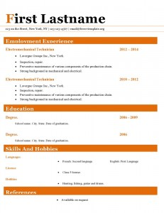 Resume cv template ms word format #415
