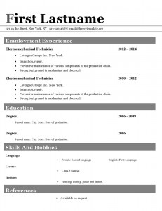 Resume cv template ms word format #416
