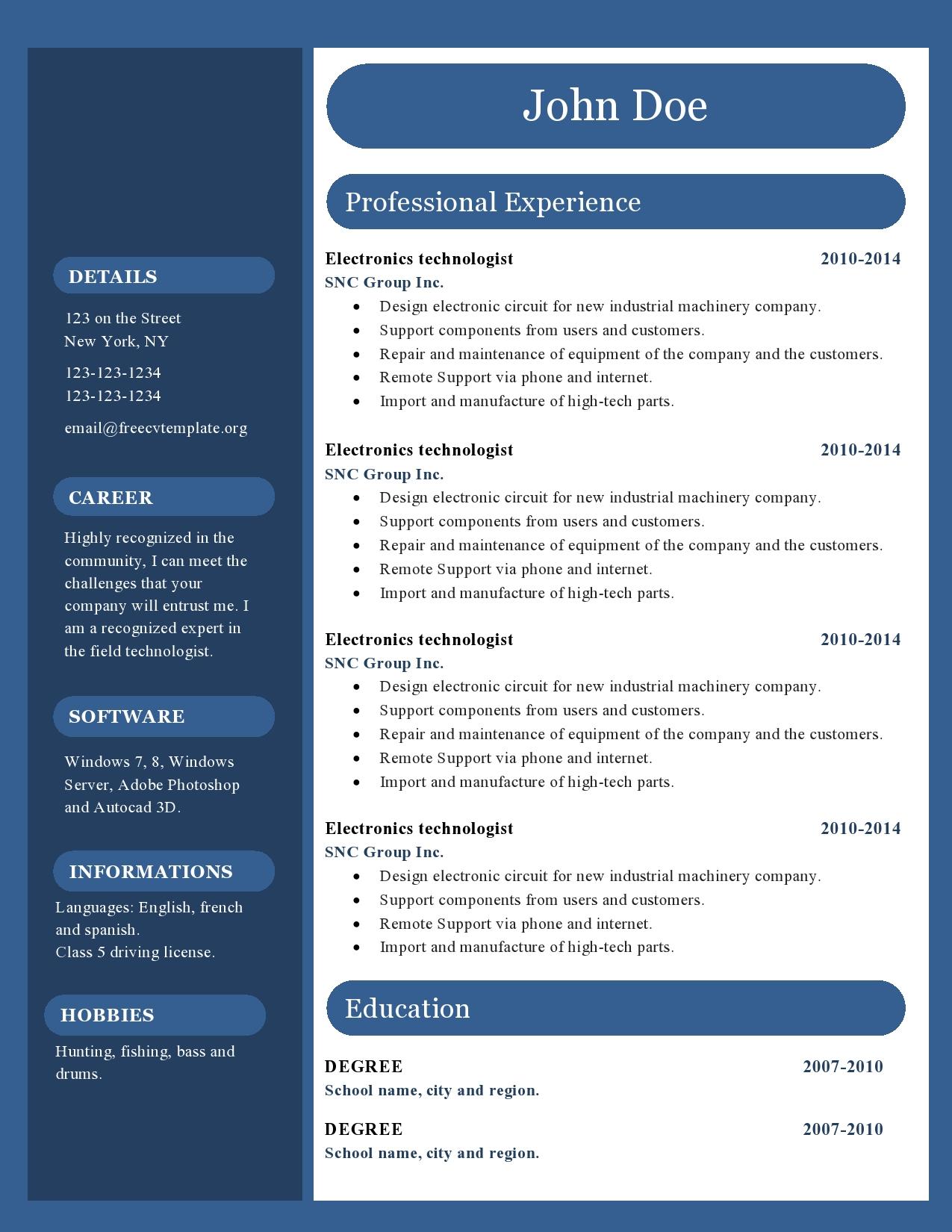 Resume templates for free circles resume template google docs
