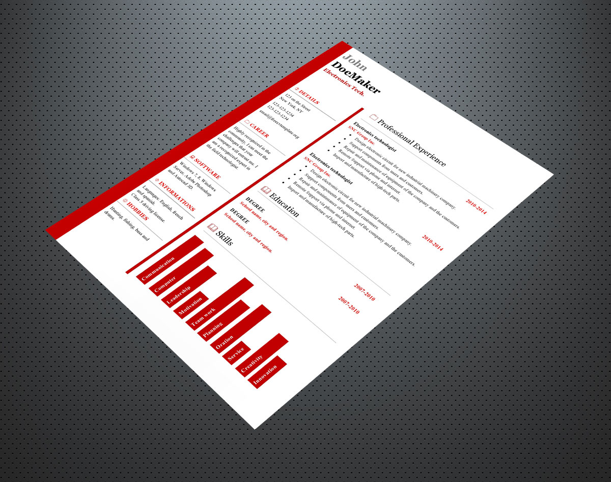 Free cv resume templates #423 to 428