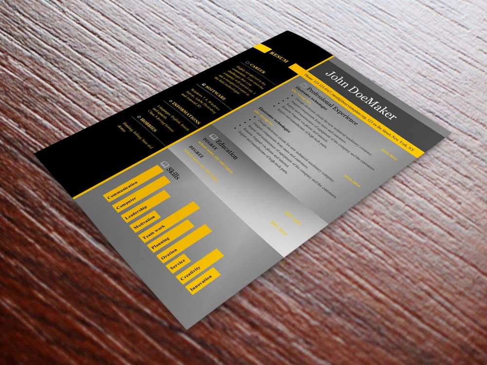 Free cv resume templates #459 to 465