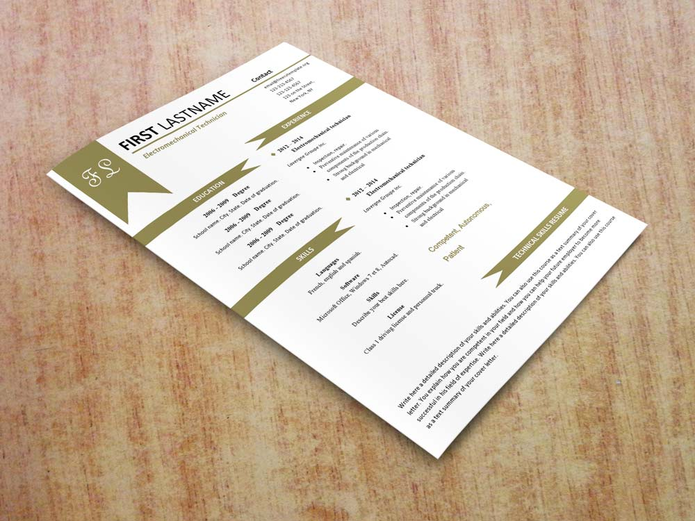 Free cv resume templates #480 to 487