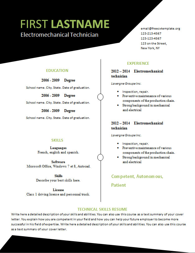 free resume template that you can print   532 to 537