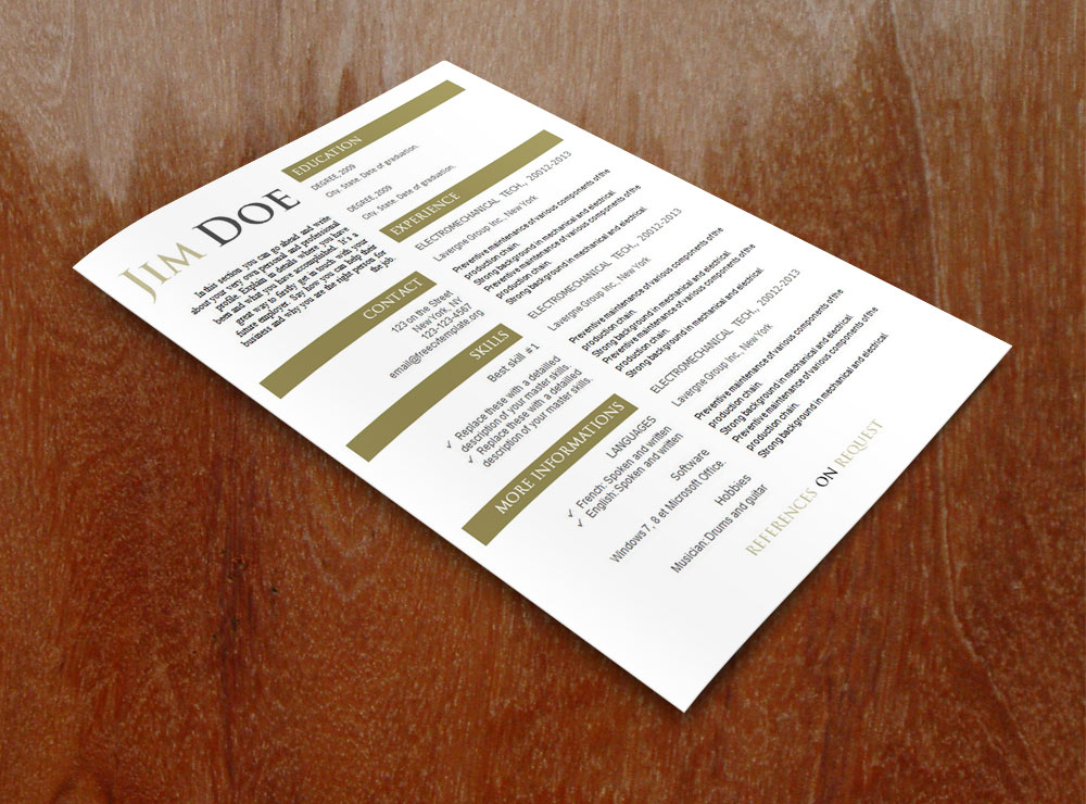 Free cv template (#597 to 603)