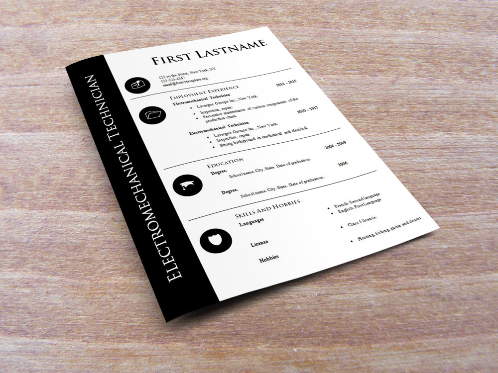 Free cv template for technician (575 to 582)